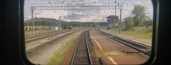 Ж/д станция Талдан is one of Транссибирская магистраль.