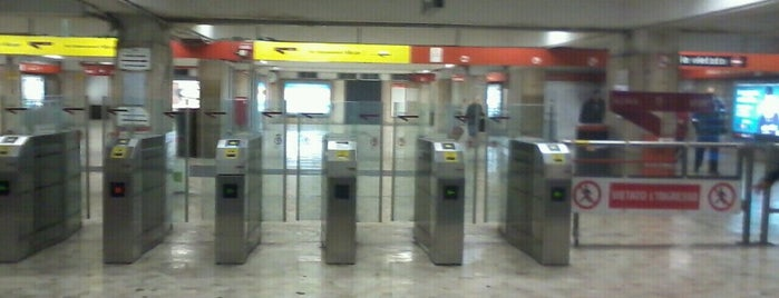 Metro Giulio Agricola (MA) is one of Muoversi a Roma.