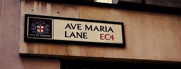 Ave Maria Lane is one of London.