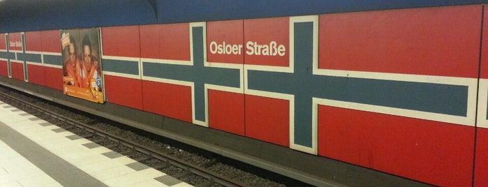 U Osloer Straße is one of Berlin tram line 50.