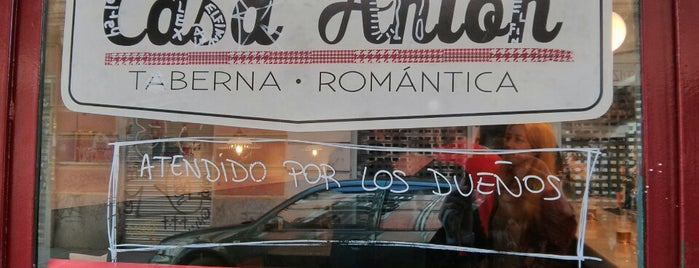 Casa Antón. Taberna Romántica. is one of Madrid: de Tapas, Tabernas y +.