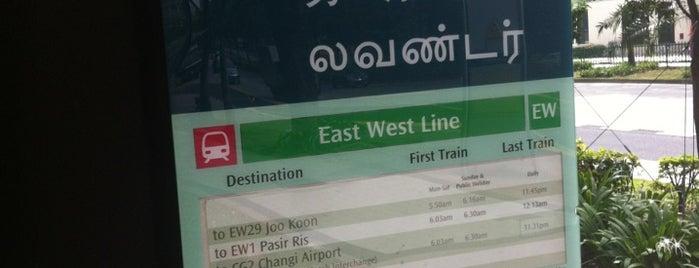 Lavender MRT Station (EW11) is one of Mrt.