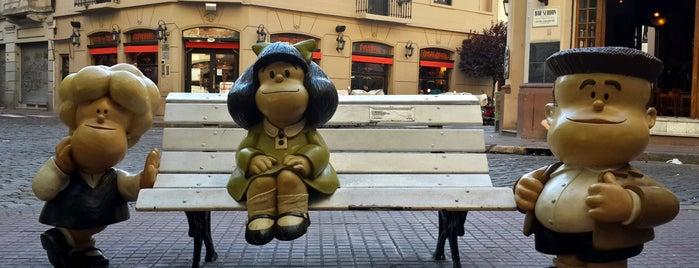 Monumento a Mafalda, Susanita y Manolito is one of Paseo de la Historieta.