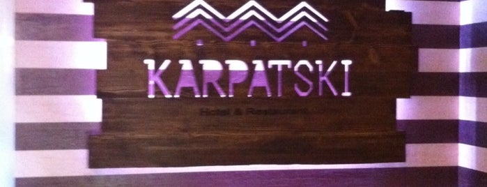 "KARPATSKI Hotel & Restaurant is one of voodoo""s mood)."