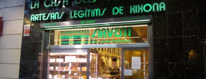 Horchatería Sirvent is one of M&M Barcelona centre.