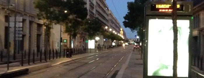 Station République - Dames [T2,T3] is one of Tramway de Marseille.