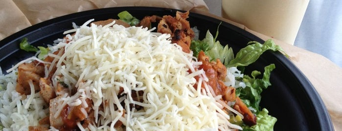 Qdoba Mexican Grill is one of Gluten free items available.