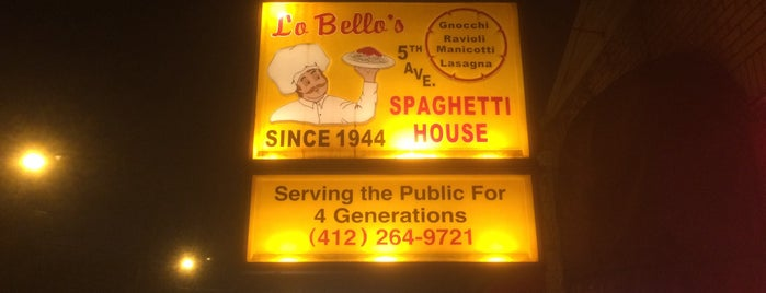 LoBello's Spaghetti House is one of Diners, Drive-Ins, and Dives- Part 2.