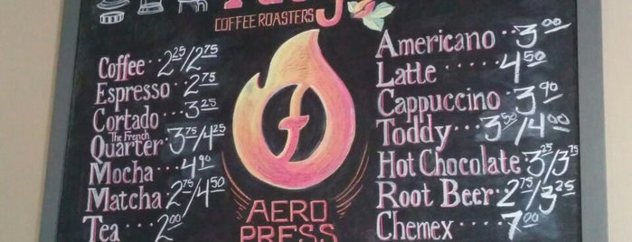 Fuego Coffee Roasters is one of Diner, Deli, Cafe, Grille.