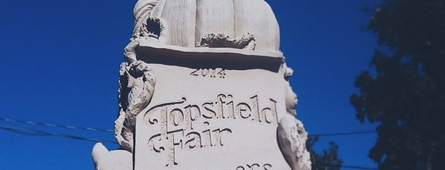 topsfield fair is one of just a list of places.