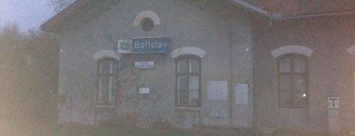 Železniční zastávka Bořislav is one of Linka U6 Lovosice - Úpořiny - Teplice v Čechách.
