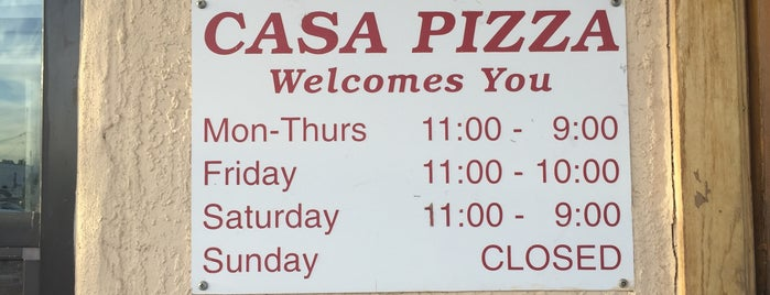 Casa Pizza is one of West Texas: Midland to El Paso.