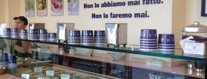 Grom is one of peccati di gola.