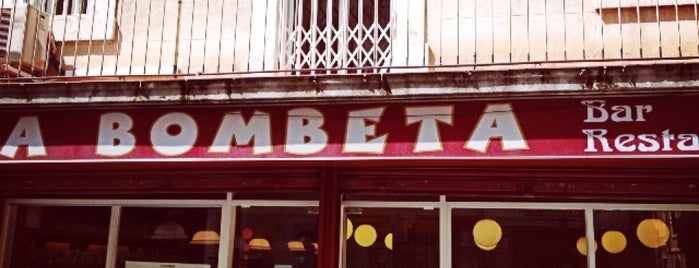 La Bombeta is one of Cenar en bcn.