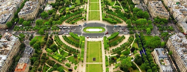 Jardin du Champ-de-Mars is one of Paris.