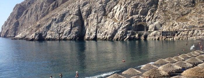 Kamari Beach is one of Santorini.