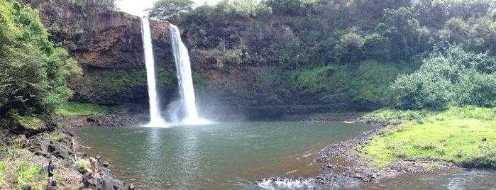 Wailua Falls is one of Kaua'i, HI.