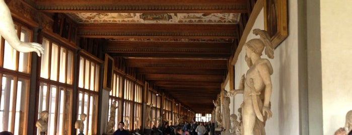 Uffizi Gallery is one of Tuscany.