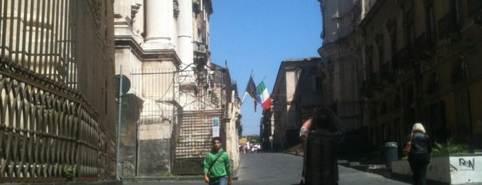 Via Crociferi is one of Catania.