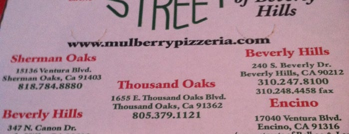 Mulberry Street Pizzeria Encino is one of favorites / los angeles *old*.