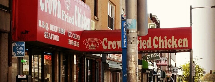 Crown Fried Chicken is one of Alyssa's University City.