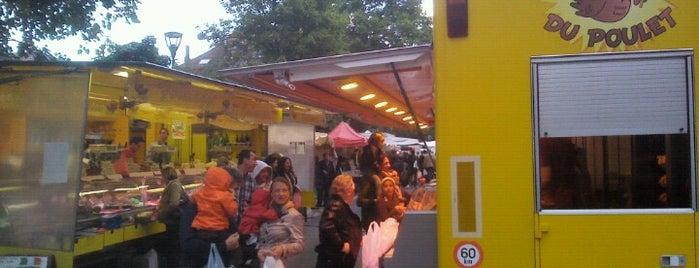 Ardense Jagerspleinmarkt / Marché Place des Chasseurs Ardennais is one of Schaerbeek.