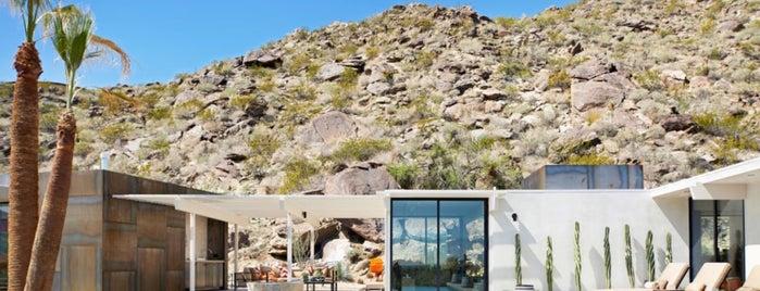 Spotify villa on the rocks is one of Psalm Sprangs.