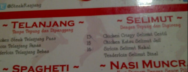 Steak Ranjang is one of Bandung Kuliner.