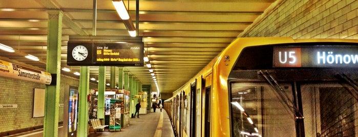 U Samariterstraße is one of U-Bahn Berlin.