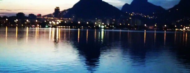 Lagoa Rodrigo de Freitas is one of Olympics 2012.