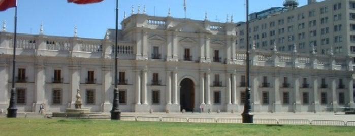 Palacio de La Moneda is one of Santiago.