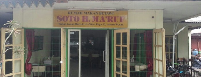 Soto Betawi H. Ma'ruf is one of Culinary Station.