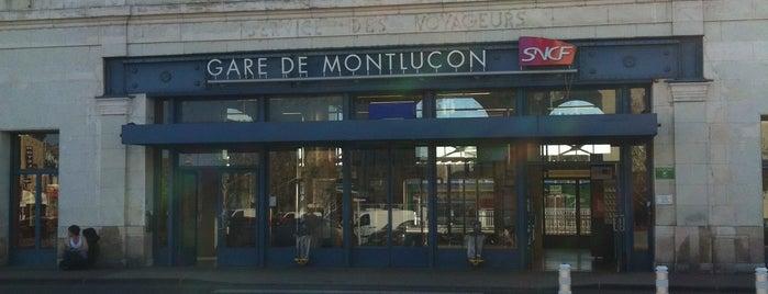 Gare SNCF de Montluçon-Ville is one of Gare.