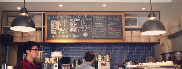 Third Rail Coffee is one of Notable Coffee Shops (NYC).