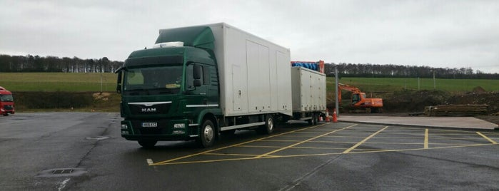 Lockerbie Truck Stop is one of Truckstops And Other Places To Park Overnight.
