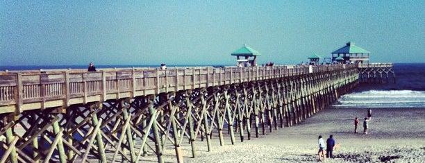 Folly Beach Pier is one of Charleston, SC.