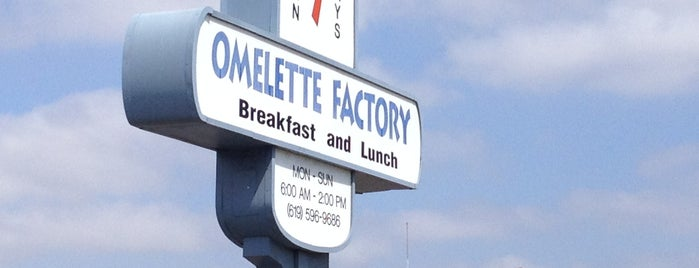 The Omelette Factory is one of San Diego.
