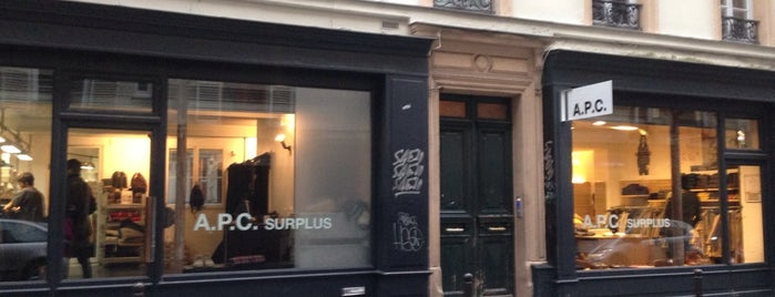 A.P.C. Surplus is one of HangOuts x Shops x Sport.
