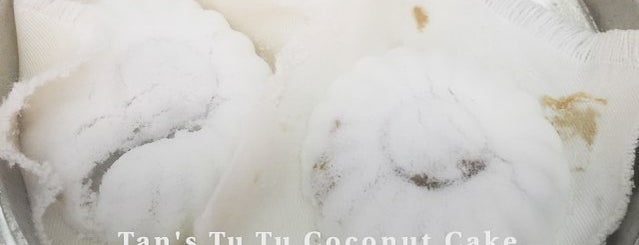 Tan's Tu Tu Coconut Cake is one of 119 stops for Local Snacks in Singapore.