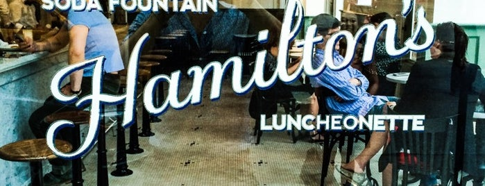 Hamilton's Soda Fountain & Luncheonette is one of NYC.