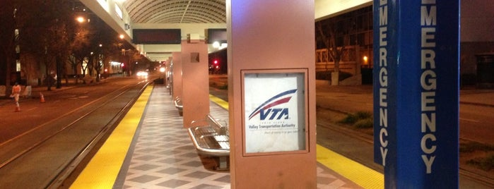 VTA Convention Center Light Rail Station is one of common.