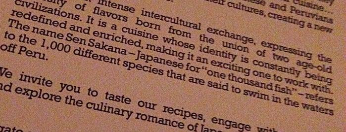 Sen Sakana is one of SC/NY - Yet To EAT.