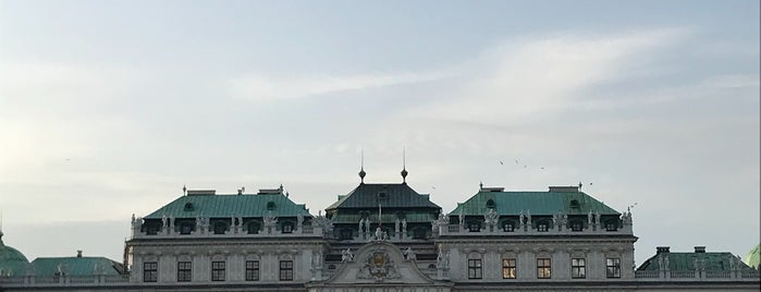 Belvedere Palace is one of Vienna, Austria.