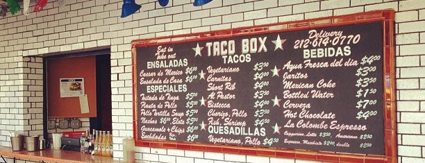 Bowery Taco Box is one of Tacossss.