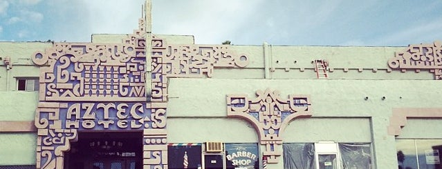 Aztec Hotel is one of Nikki Kreuzer's Offbeat L.A..