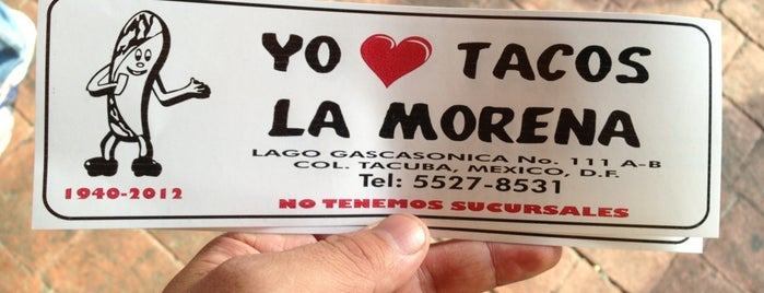 Tacos La Morena is one of Guía Changarreando del Reforma.