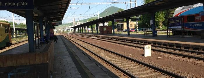 Železniční stanice Lovosice is one of Linka U4 Ústí - Lovosice - Roudnice - Hněvice.