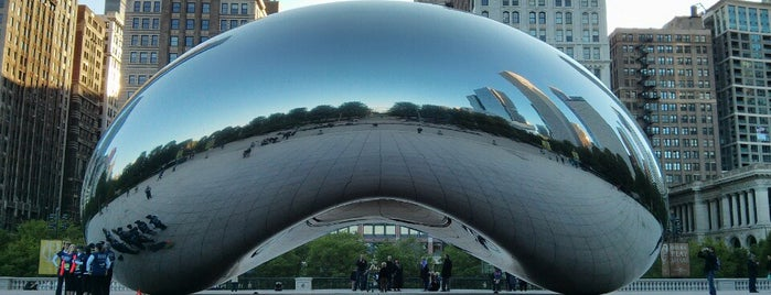 Cloud Gate by Anish Kapoor is one of Go Ahead, Be A Tourist.