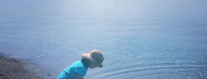 Antandros Beach is one of doğallık..