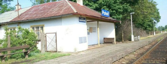 Železniční zastávka Pohoří is one of Železniční stanice ČR: P (9/14).